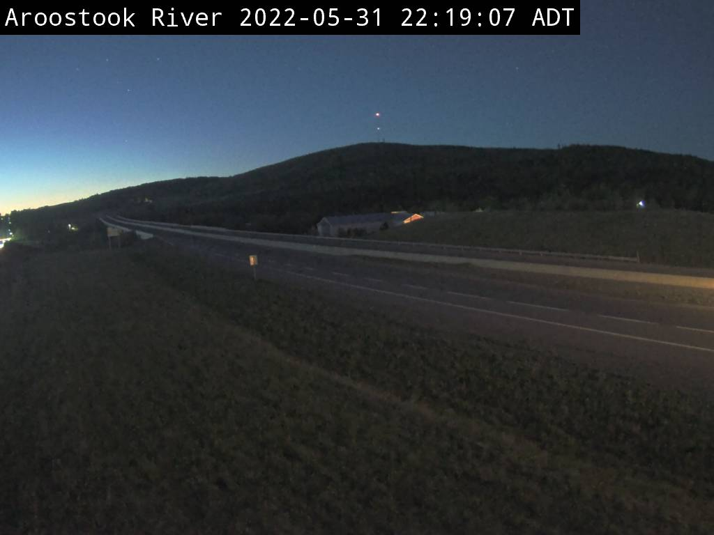 Web Cam image of Aroostook River (NB Highway 2)