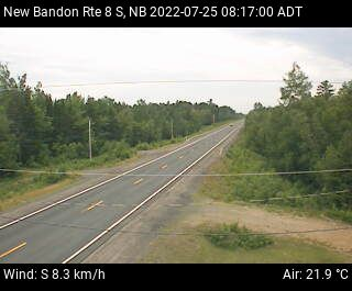 Web Cam image of New Bandon (NB Highway 8)