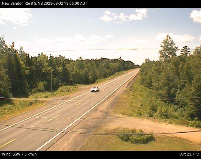 Web Cam image of New Bandon (NB Highway 8)