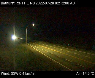 Web Cam image of Bathurst (NB Highway 11)
