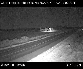 Web Cam image of Copp Loop Road (NB Highway 16)