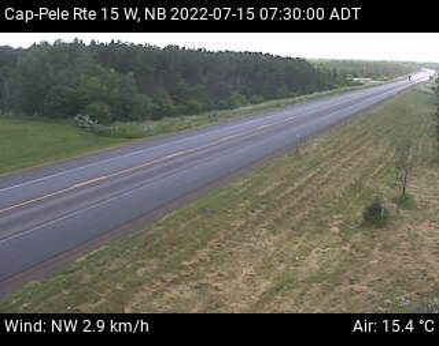 Web Cam image of Cap-Pel� (NB Highway 15)