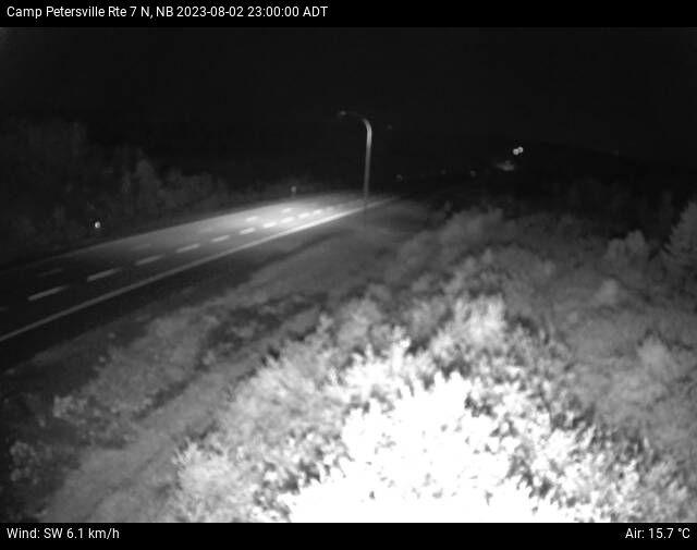 Web Cam image of Camp Petersville (NB Highway 7)
