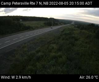 Web Cam image of Camp Petersville (NB Highway 7)