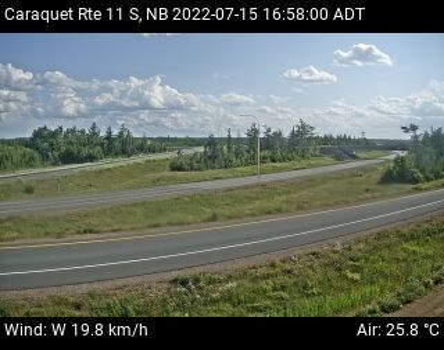 Web Cam image of Caraquet (NB Highway 11)