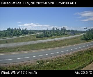 Web Cam image of Caraquet (NB Highway 11)