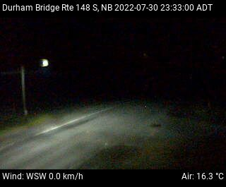 Web Cam image of Durham Bridge (NB Highway 148)