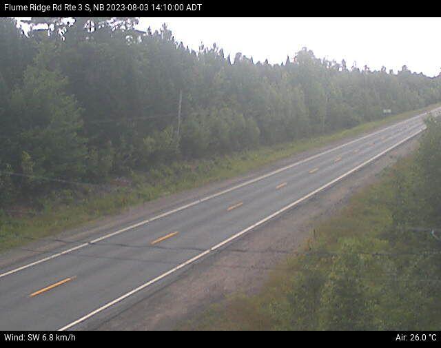 Web Cam image of Flume Ridge (NB Highway 3)