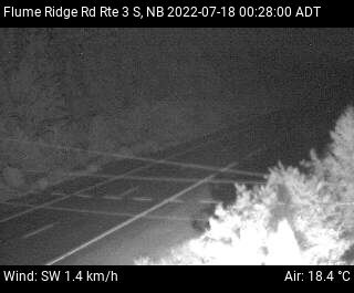 Web Cam image of Flume Ridge (NB Highway 3)