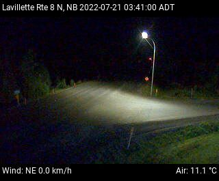 Web Cam image of Lavillette (NB Highway 8)