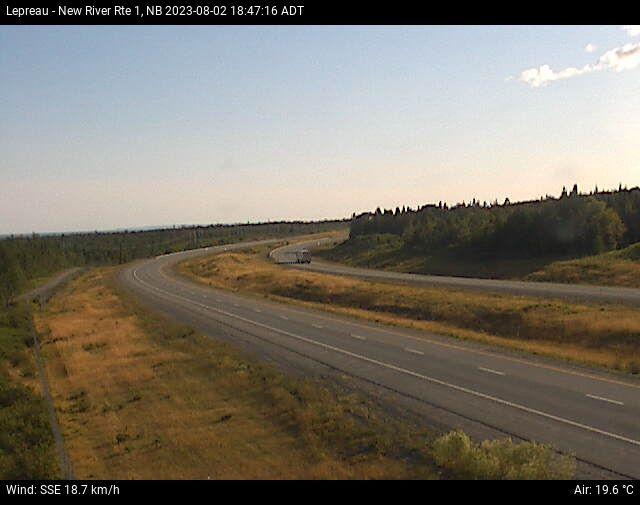 Web Cam image of Lepreau / New River (NB Highway 1)