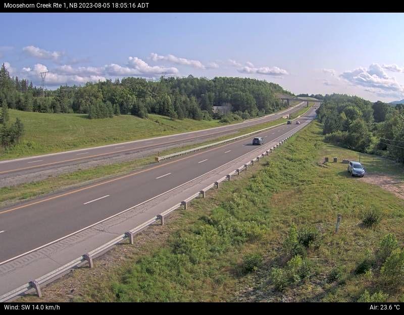 Web Cam image of Moosehorn Creek (NB Highway 1)