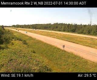 Web Cam image of Memramcook (NB Highway 2)