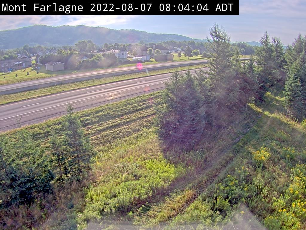 Web Cam image of Mont Farlagne (NB Highway 2)
