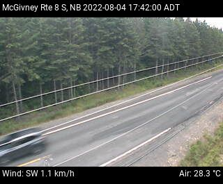 Web Cam image of McGivney (NB Highway 8)