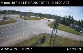 Web Cam image of Miramichi (NB Highway 11)