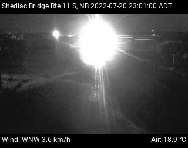 Web Cam image of Shediac Bridge (NB Highway 11)