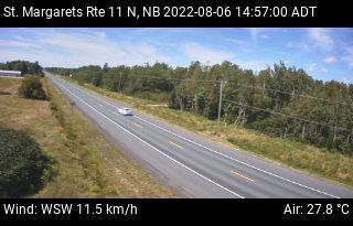 Web Cam image of St. Margarets (NB Highway 11)