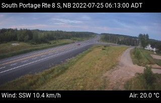 Web Cam image of South Portage (NB Highway 8)