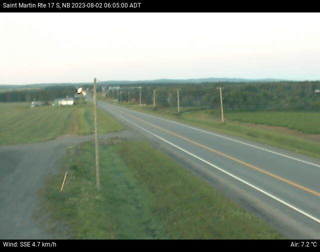 Web Cam image of St-Martin-de-Restigouche (NB Highway 17)