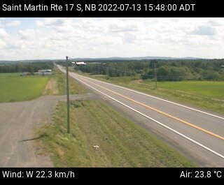 Web Cam image of St-Martin-de-Restigouche (NB Highway 17)