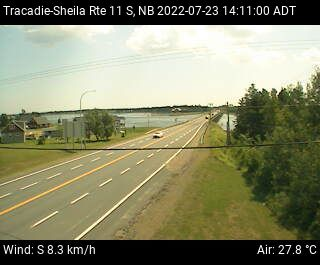 Web Cam image of Tracadie-Sheila (NB Highway 11)