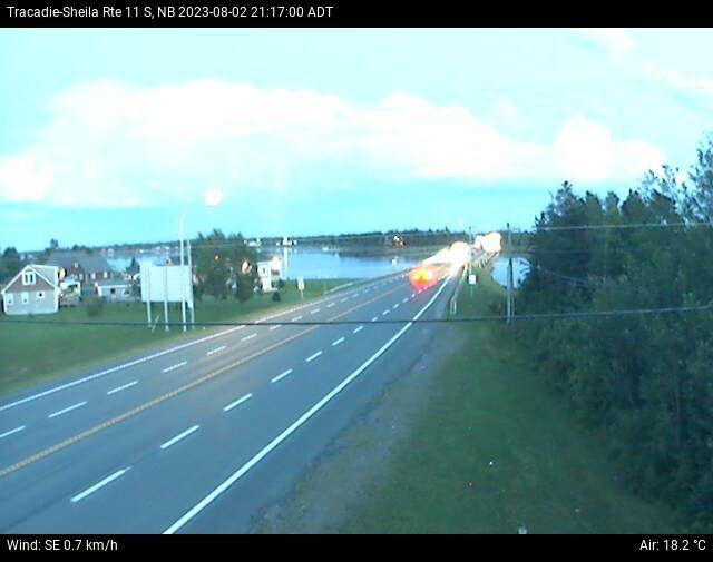 Web Cam image of Tracadie-Sheila (NB Highway 11)