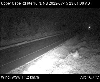 Web Cam image of Upper Cape Road (NB Highway 16)