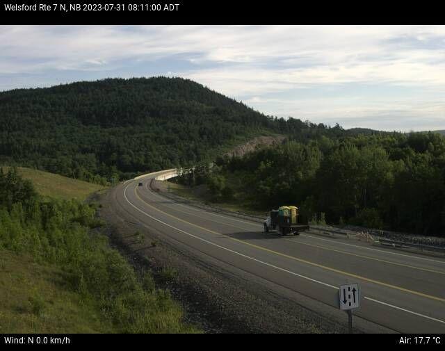 Web Cam image of Welsford (NB Highway 7)