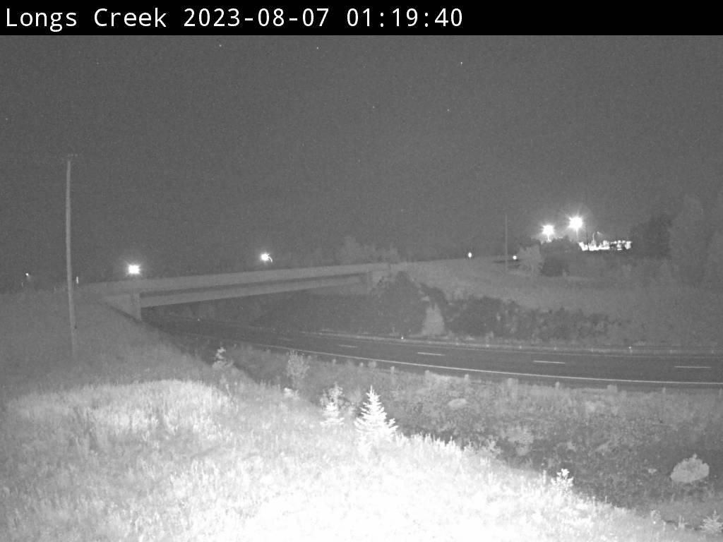 Web Cam image of Longs Creek (NB Highway 2)