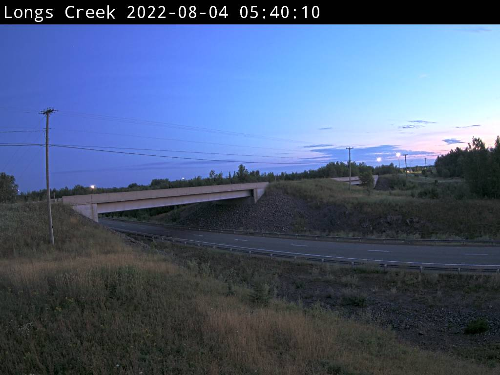 Web Cam image of Longs Creek (NB Highway 2)