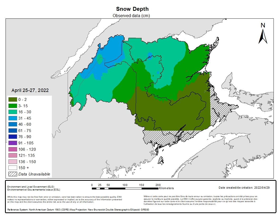 Snow Survey Depth (cm) on